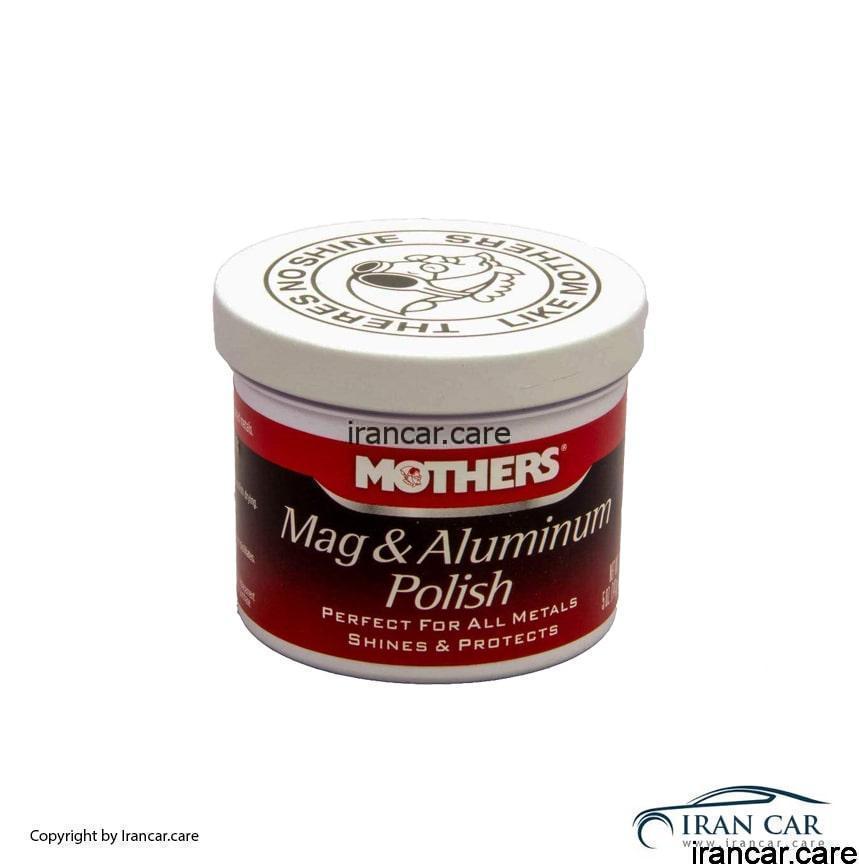 پولیش آلومینیوم و منیزیوم مادرز را به مقدار لازم بر روی سطح مورد نظر بریزید و با یک پارچه نرم یا پد مخصوص شروع به تمیز کردن و جلا بخشیدن به سطح مورد نظر خود نمایید.