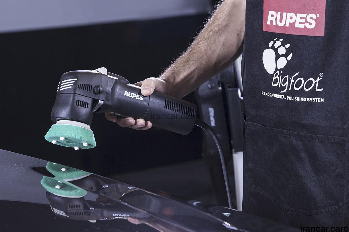 Random orbital polisher bigfoot mini LHR75E application2