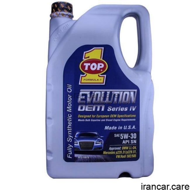 روغن موتور تاپ وان 5W-30 EVOLUTION