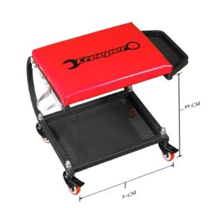 صندلی دیتیلینگ کارگاهی حرفه ای چرخدار با جعبه Mechanics Rolling Seat Creeper