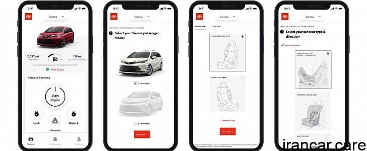 toyota now has a mobile app to help you install a child car seat 158748 7 اپلیکیشن تویوتا و لکسوس 6