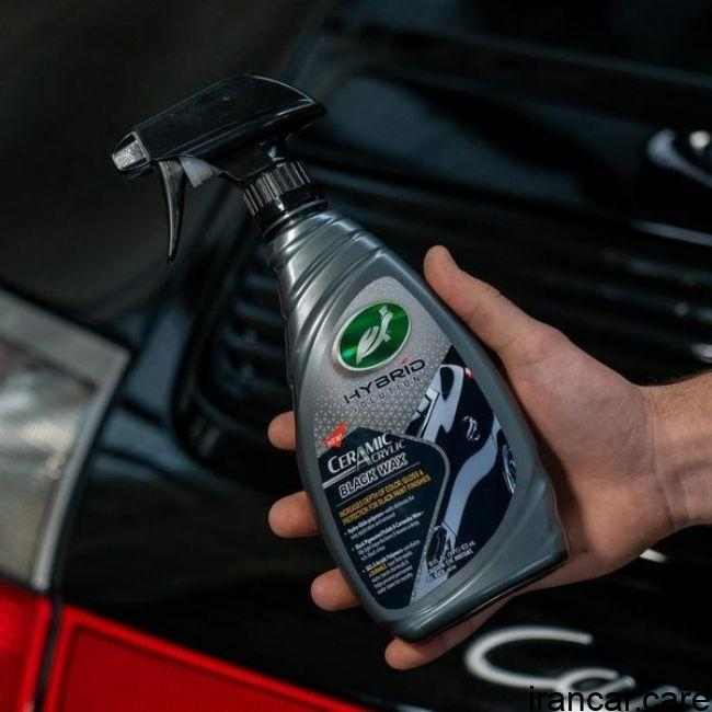 نانو سرامیک بدنه خودرو مشکی CERAMIC ACRYLIC BLACK CAR 3 اسپری نانو سرامیک بدنه خودرو مشکی Turtle Wax 53447 3